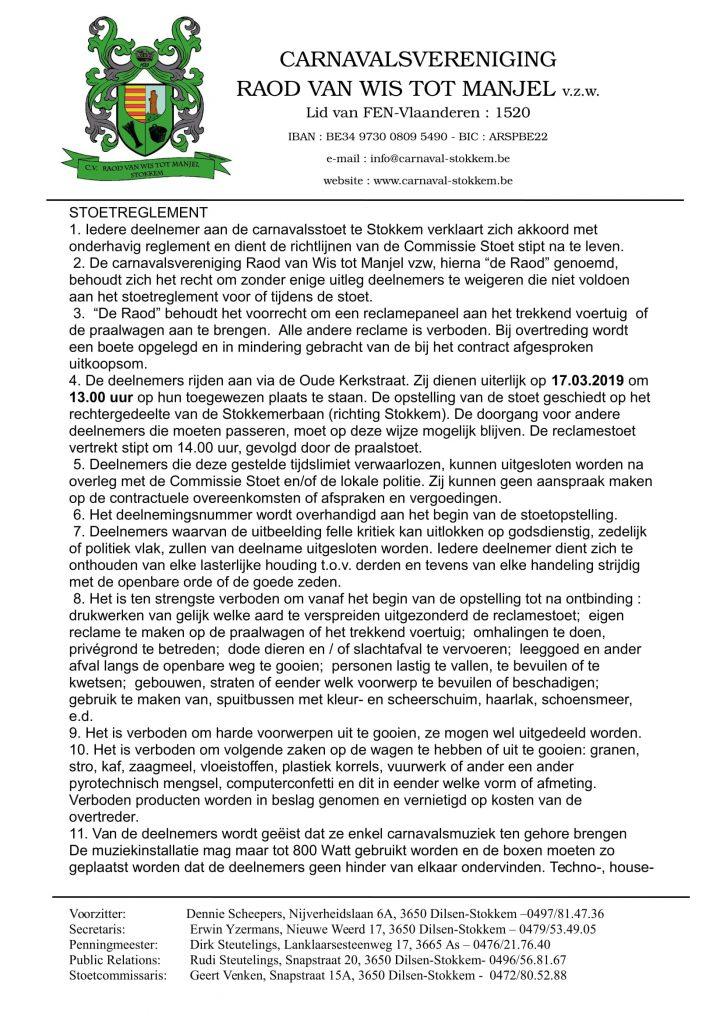 Stoetreglement -1